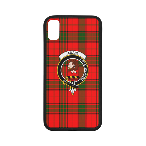 Image of Adair Tartan Clan Badge Rubber Phone Case TH8