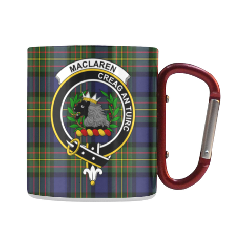 Maclaren Modern Tartan Mug Classic Insulated - Clan Badge | scottishclans.co