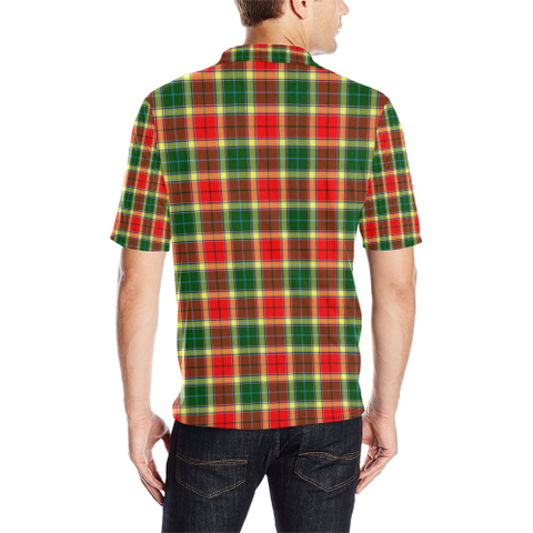 Gibbs Tartan Clan Badge Polo Shirt HJ4