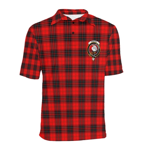 Wemyss Modern Tartan Clan Badge Polo Shirt HJ4