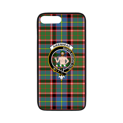 Aikenhead Tartan Clan Badge Rubber Phone Case TH8