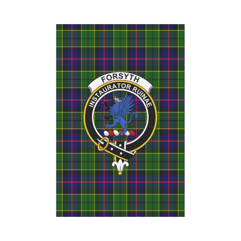 Forsyth Modern Tartan Flag Clan Badge | Scottishclans.co