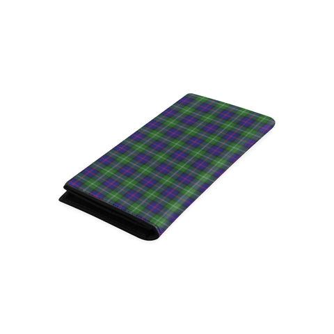 Image of MacThomas Modern Tartan Wallet Women's Leather Thistle A91
