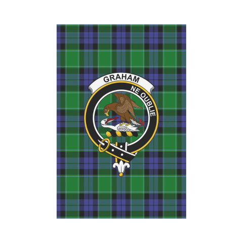 Graham Of Menteith Modern Tartan Flag Clan Badge K7