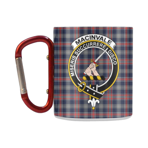 MacInvale Tartan Mug Classic Insulated - Clan Badge K7
