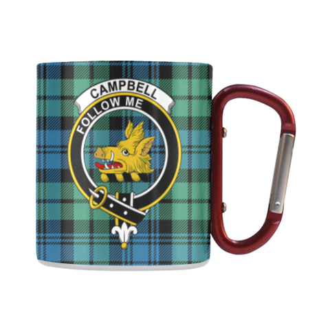 Campbell Ancient Tartan Mug Classic Insulated - Clan Badge | scottishclans.co
