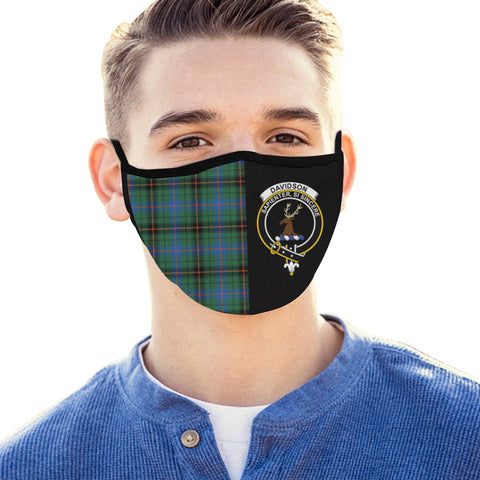 Davidson Ancient  Tartan Mouth Mask The Half Th88 - Reversible Face Mask