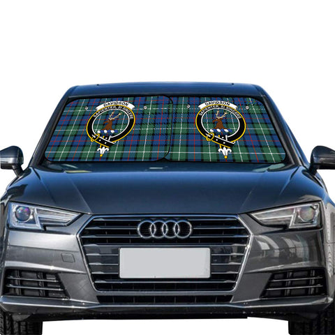 Davidson of Tulloch  Clan Crest Tartan Scotland Car Sun Shade 2pcs