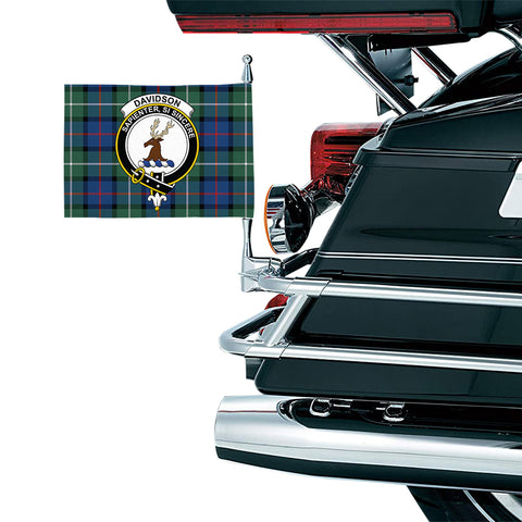 Image of Davidson of Tulloch  Clan Crest Tartan Motorcycle Flag