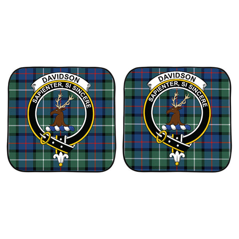 Davidson of Tulloch  Clan Crest Tartan Scotland Car Sun Shade 2pcs K7
