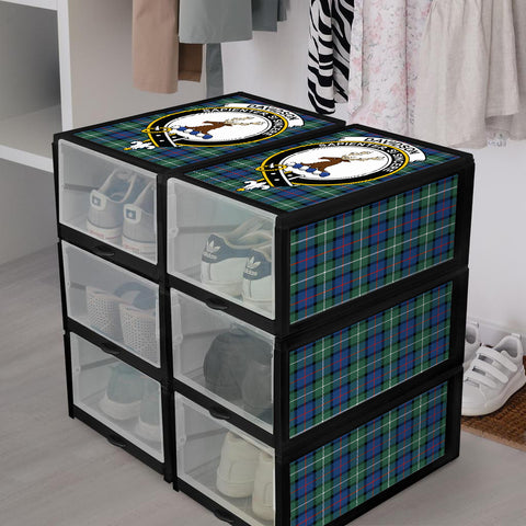 Davidson of Tulloch  Clan Crest Tartan Scottish Shoe Organizers K9