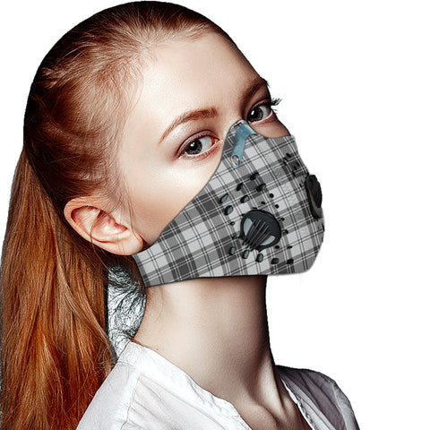 Douglas Grey Modern Tartan Dust-proof Sports Masks ( Model 1) - TH88 (USA Shipping Line)