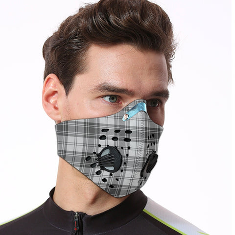 Image of Douglas Grey Modern Tartan Dust-proof Sports Masks ( Model 1) - TH88 (USA Shipping Line)