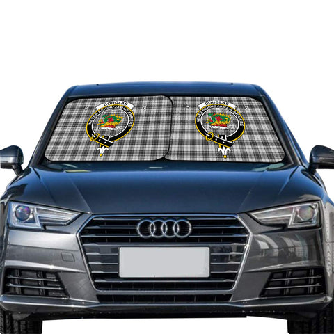 Douglas Grey Modern Clan Crest Tartan Scotland Car Sun Shade 2pcs