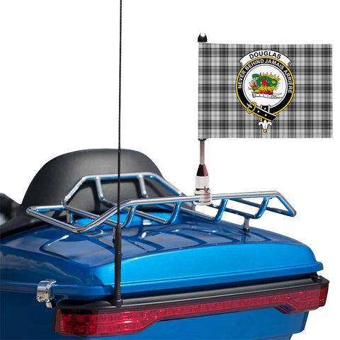 Image of Douglas Grey Modern Clan Crest Tartan Motorcycle Flag