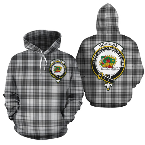 Douglas Grey Modern Clan Half Of Me New Version Crest Tartan Hoodie