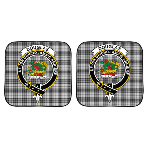 Douglas Grey Modern Clan Crest Tartan Scotland Car Sun Shade 2pcs K7
