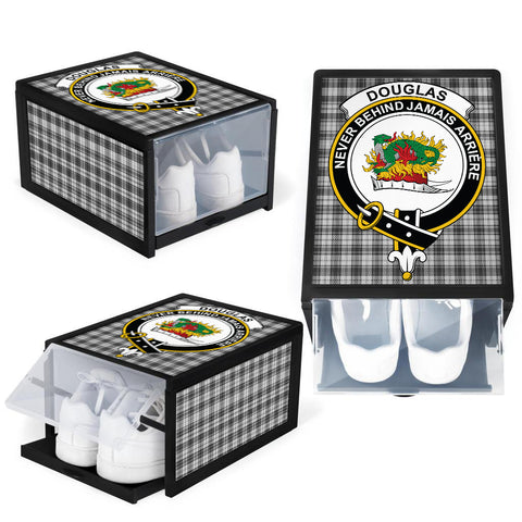 Image of Douglas Grey Modern Clan Crest Tartan Scottish Shoe Organizers K9