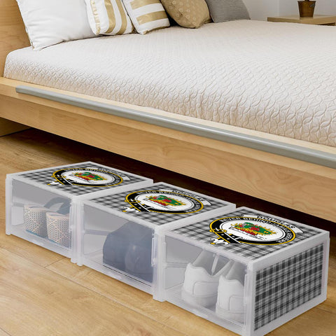 Douglas Grey Modern Clan Crest Tartan Scottish Shoe Organizers K9