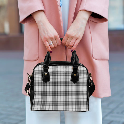 Douglas Grey Modern Tartan Shoulder Handbag for Women | Hot Sale | Scottish Clans