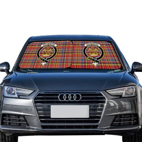 Image of Drummond of Strathallan Clan Crest Tartan Scotland Car Sun Shade 2pcs