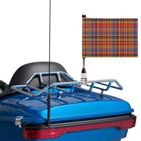 Drummond of Strathallan Clan Tartan Motorcycle Flag