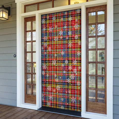 Image of Drummond of Strathallan Christmas Tartan Door Sock Cover