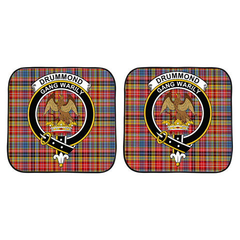 Image of Drummond of Strathallan Clan Crest Tartan Scotland Car Sun Shade 2pcs K7