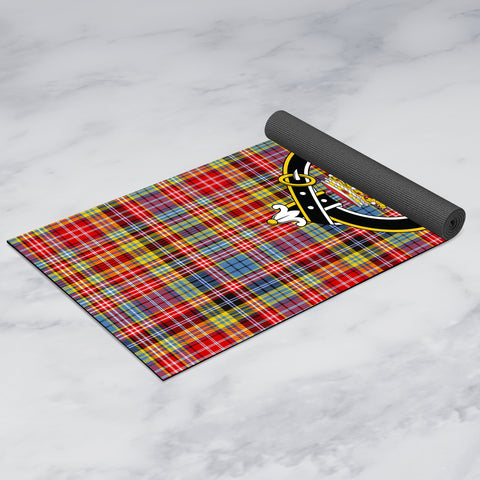 Image of Drummond of Strathallan Clan Crest Tartan Yoga mats