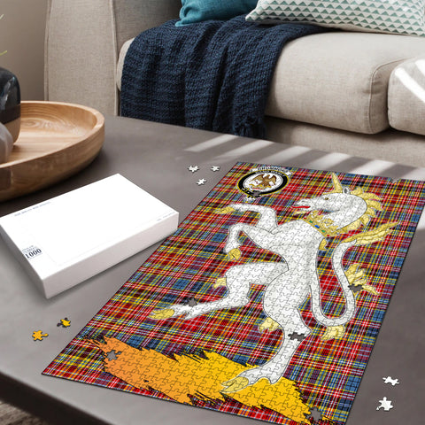 Image of Drummond of Strathallan Clan Crest Tartan Unicorn Scotland Jigsaw Puzzle
