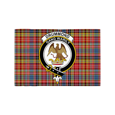 Drummond of Strathallan Clan Crest Tartan Motorcycle Flag