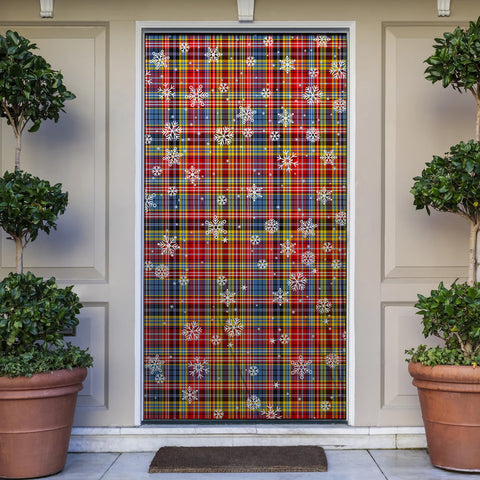 Drummond of Strathallan Christmas Tartan Door Sock Cover