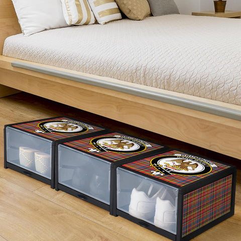 Drummond of Strathallan Clan Crest Tartan Scottish Shoe Organizers K9