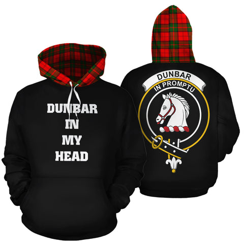 Image of Dunbar Modern In My Head Hoodie Tartan Scotland K9