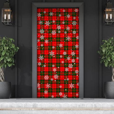 Image of Dunbar Modern Christmas Tartan Door Sock Cover