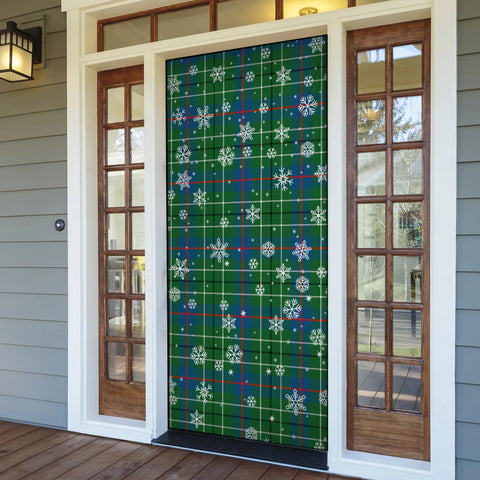 Duncan Ancient Christmas Tartan Door Sock Cover