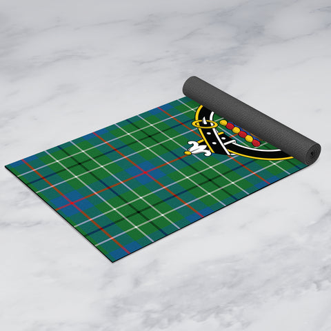 Duncan Ancient Clan Crest Tartan Yoga mats