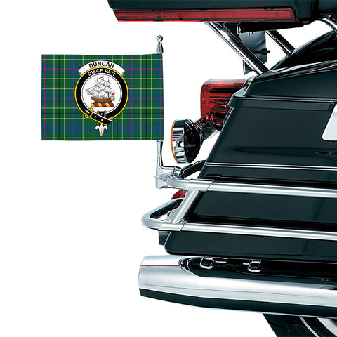 Duncan Ancient Clan Crest Tartan Motorcycle Flag