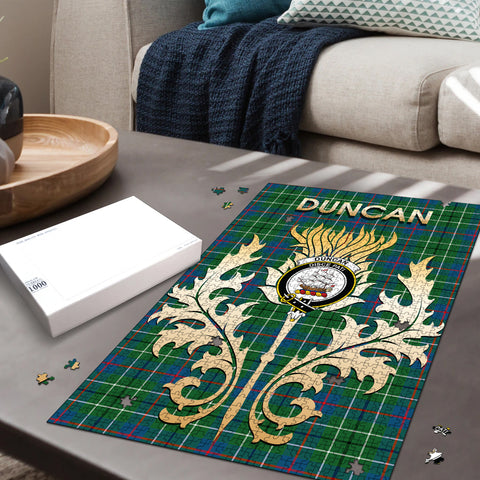 Duncan Ancient Clan Name Crest Tartan Thistle Scotland Jigsaw Puzzle