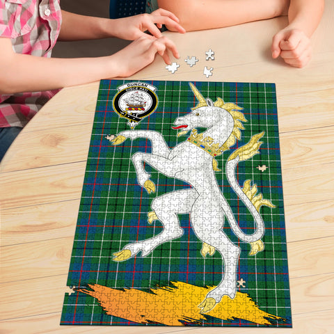 Duncan Ancient Clan Crest Tartan Unicorn Scotland Jigsaw Puzzle