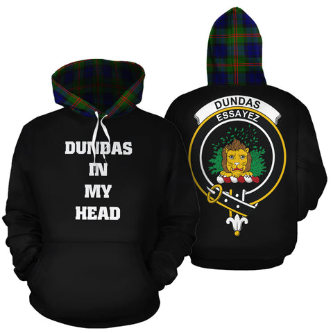 Dundas Modern 02 In My Head Hoodie Tartan Scotland K9