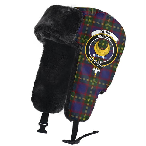 Image of Durie Clan Crest Tartan Trapper Hat