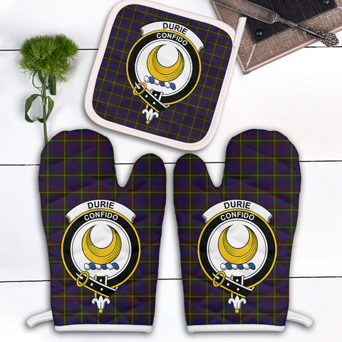 Durie Clan Crest Tartan Scotland Oven Mitt And Pot-Holder (Set Of Two)
