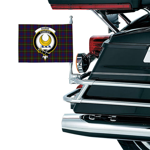 Image of Durie Clan Crest Tartan Motorcycle Flag