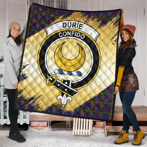 Durie Clan Crest Tartan Scotland Gold Royal Premium Quilt K9