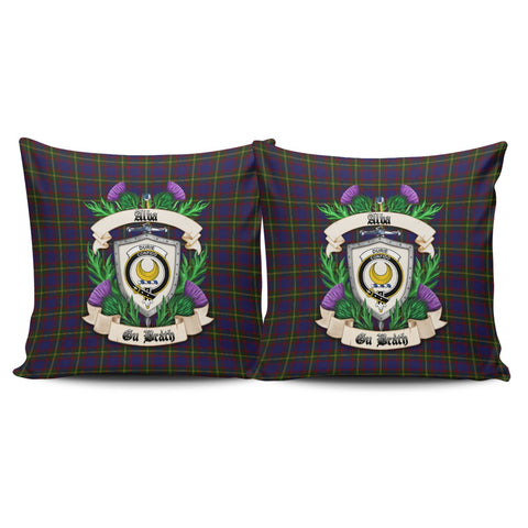 Durie Crest Tartan Pillow Cover Thistle (Set of two) A91 | Home Set