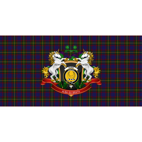 Durie Crest Tartan Tablecloth Unicorn Thistle A30