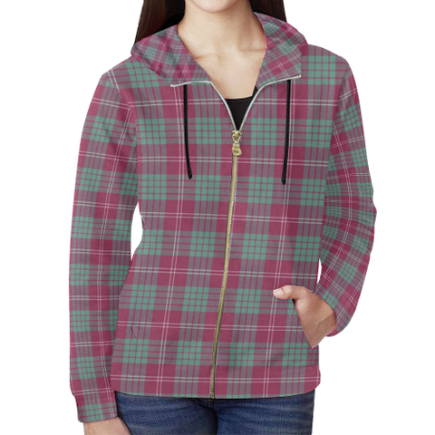 Crawford Ancient Tartan Zipped Hoodie | Special Custom Products