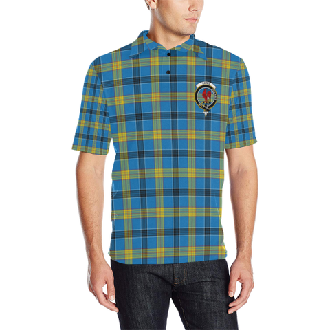 Image of Laing Tartan Clan Badge Polo Shirt