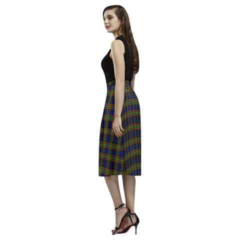Image of Clelland Modern Tartan Aoede Crepe Skirt | Exclusive Over 500 Tartan